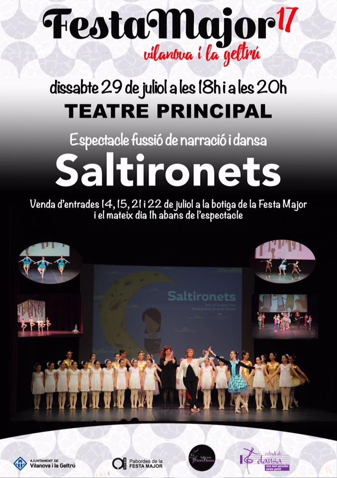 Per la Festa Major torna Saltironets espectacle de fusió de narració i dansa al teatre Principal, desprès del gran èxit de la 5a Fira Conte va! va de contes