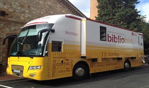 Novetat: el bibliobús Montau ens visita a la fira Conte va! Va de contes