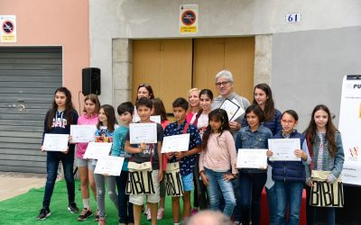 """A l'espai Biblioteques de la Fira Conte va! es van lliurar els premis del concurs """"Puja al tren!"""""""