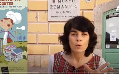 Resum del Berenar de contes en els jardins de Can Papiol.  Anin TV. 8a fira Conte va! va de contes.